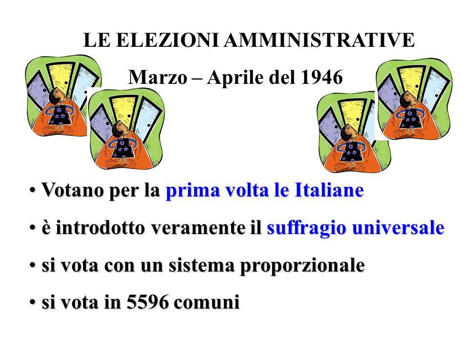 Votano per la prima volta le Italiane