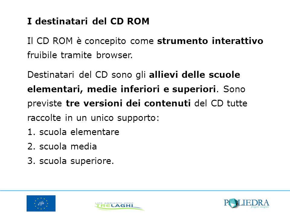 I destinatari del CD ROM