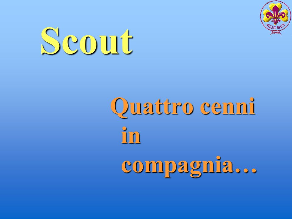 Scout Quattro cenni in compagnia…