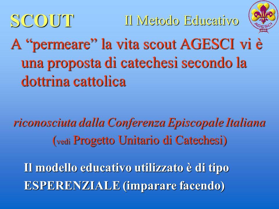 SCOUT Il Metodo Educativo. A permeare la vita scout AGESCI vi è una proposta di catechesi secondo la dottrina cattolica.