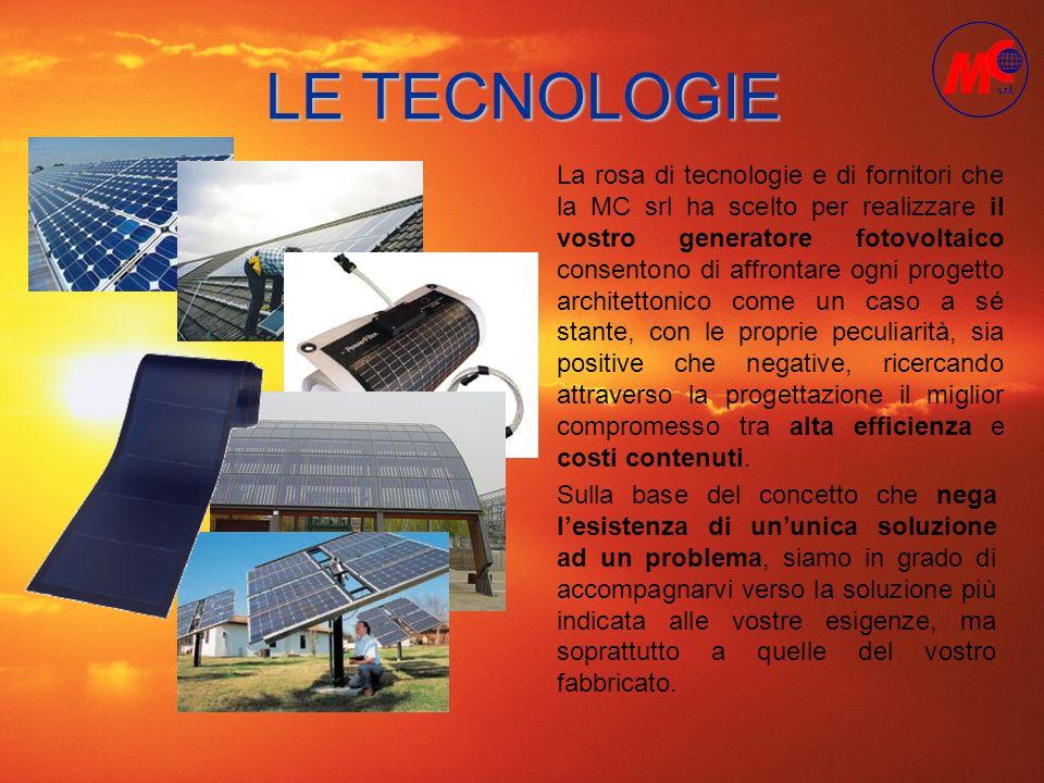 LE TECNOLOGIE