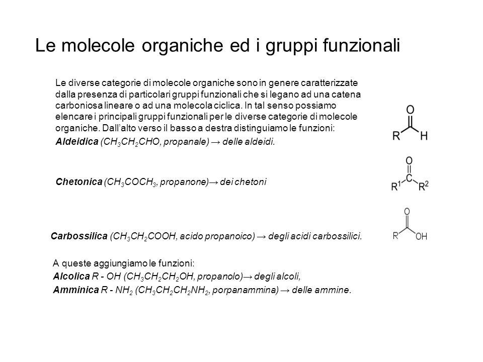 Le molecole organiche ed i gruppi funzionali