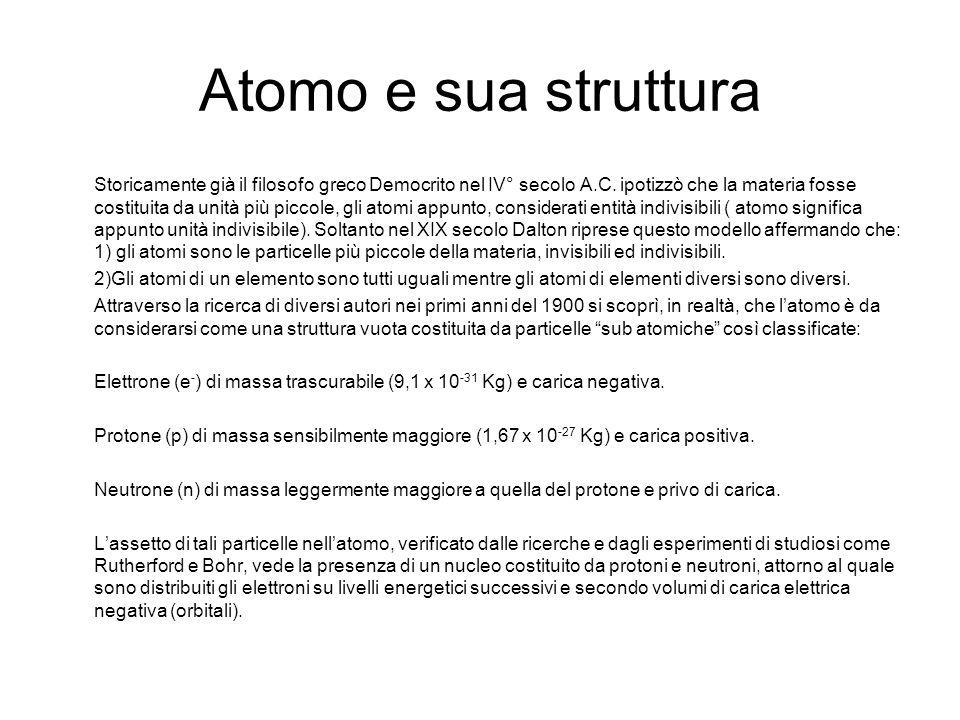 Atomo e sua struttura