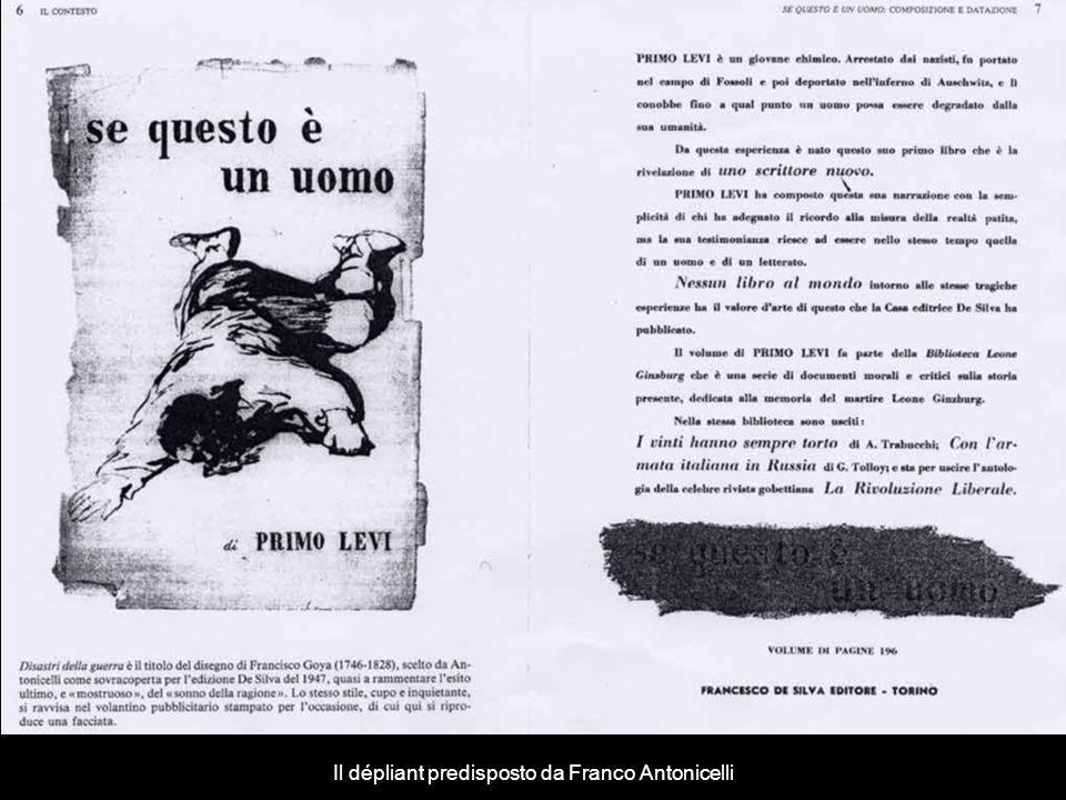 Il dépliant predisposto da Franco Antonicelli