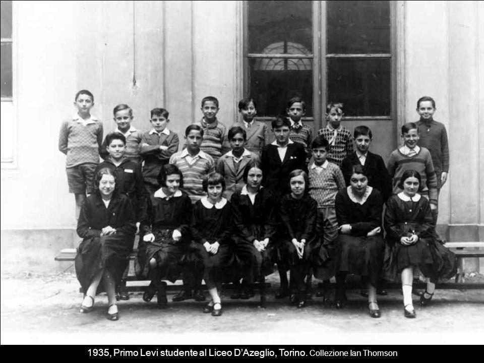 1935, Primo Levi studente al Liceo D'Azeglio, Torino
