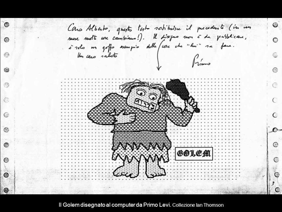Il Golem disegnato al computer da Primo Levi. Collezione Ian Thomson