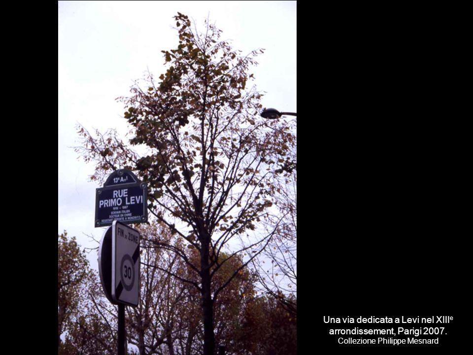Una via dedicata a Levi nel XIIIe arrondissement, Parigi 2007