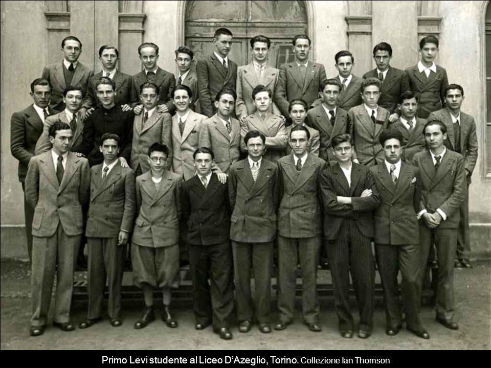 Primo Levi studente al Liceo D'Azeglio, Torino. Collezione Ian Thomson