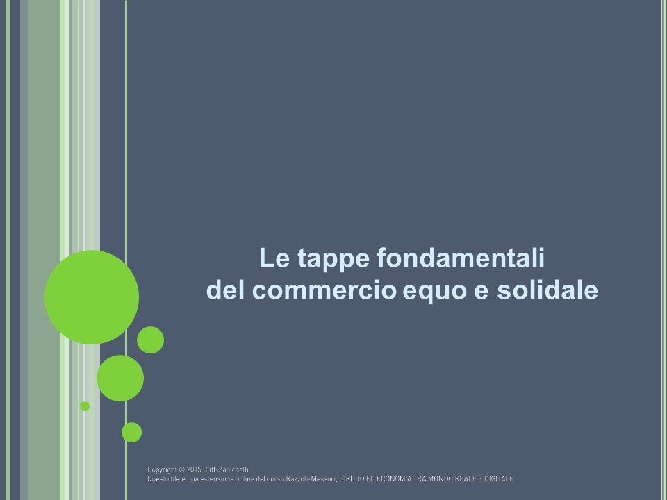 Le tappe fondamentali del commercio equo e solidale