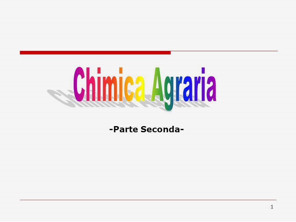 Chimica Agraria -Parte Seconda-