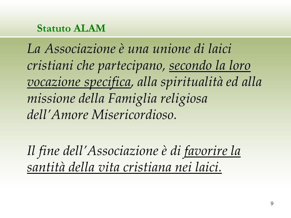 Statuto ALAM