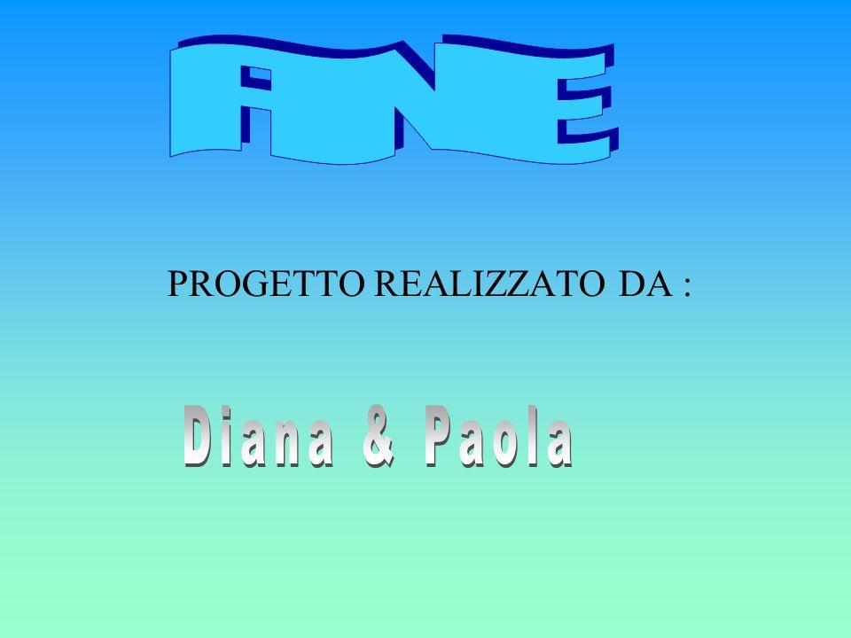 FINE PROGETTO REALIZZATO DA : Diana & Paola