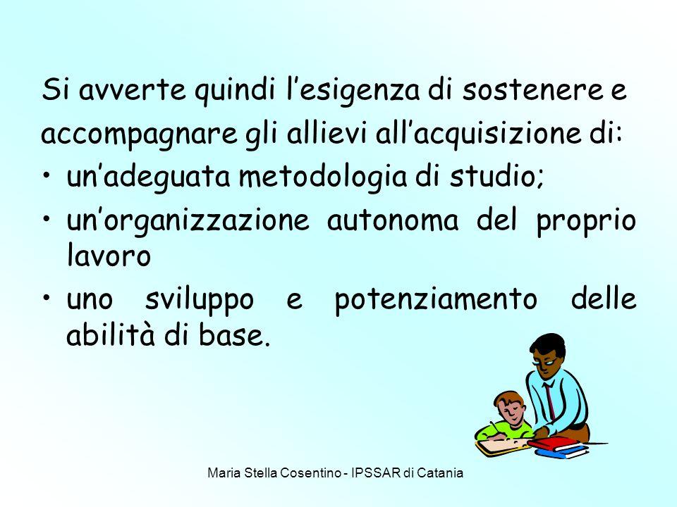 Maria Stella Cosentino - IPSSAR di Catania