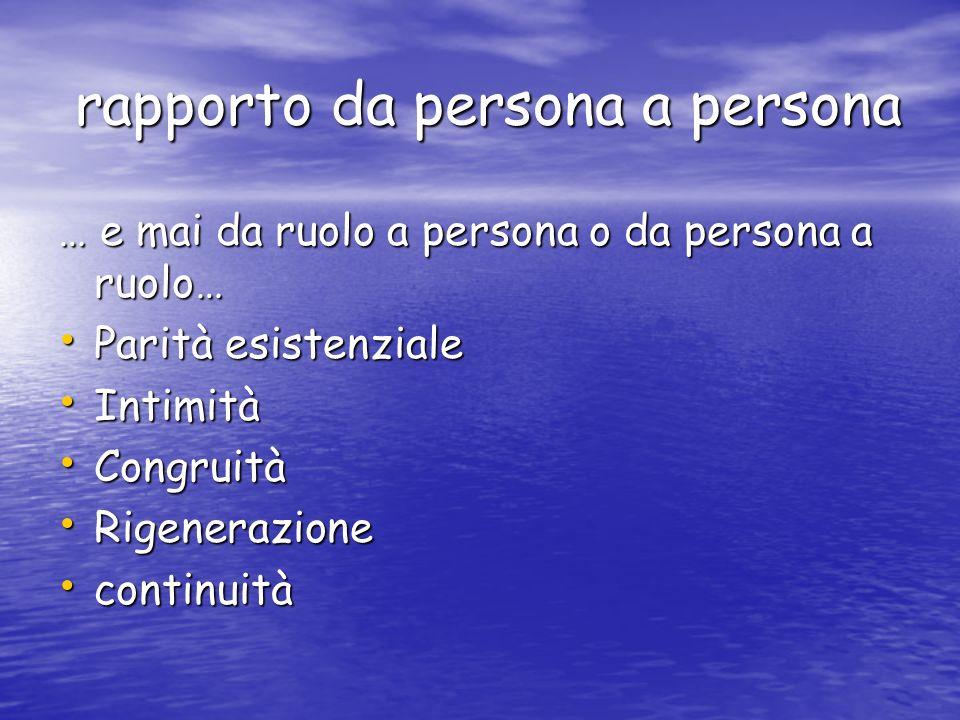 rapporto da persona a persona