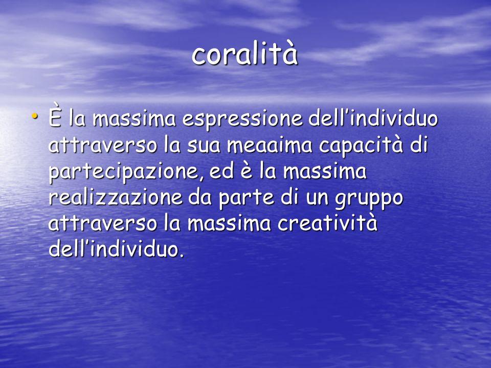 coralità