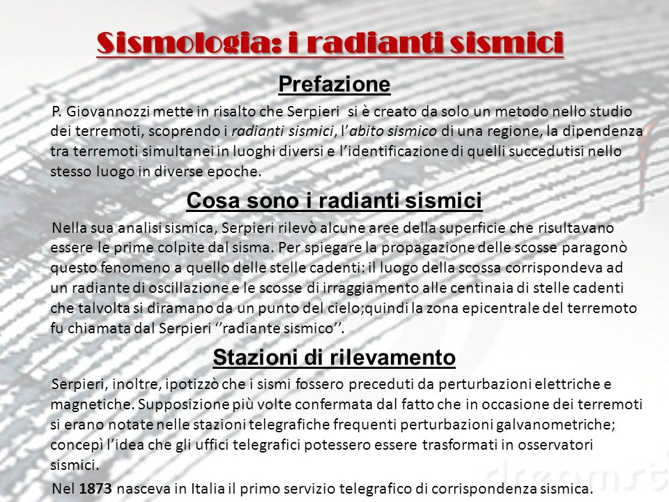 Sismologia: i radianti sismici
