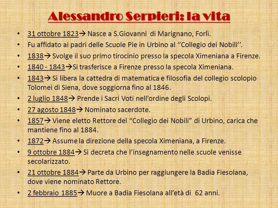 Alessandro Serpieri: la vita