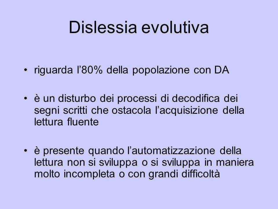 Dislessia evolutiva riguarda l'80% della popolazione con DA