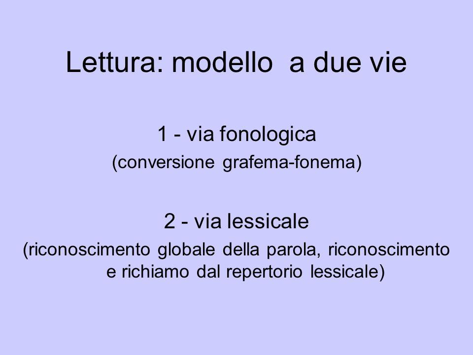 Lettura: modello a due vie