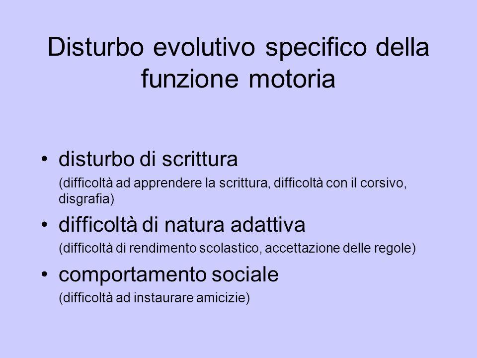 Disturbo evolutivo specifico della funzione motoria