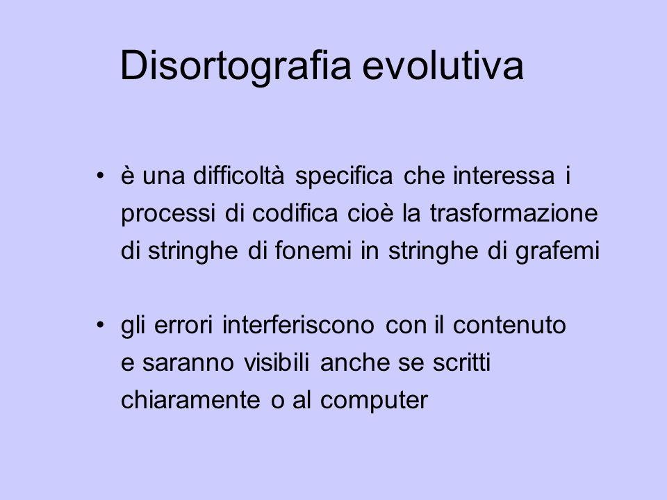 Disortografia evolutiva