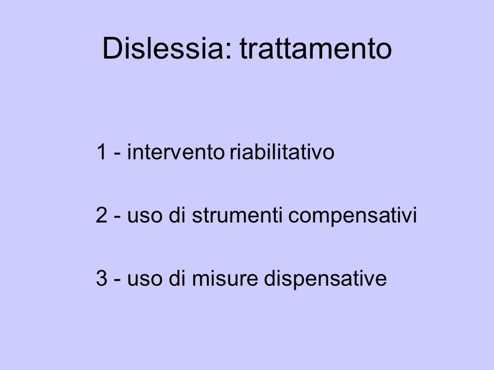 Dislessia: trattamento