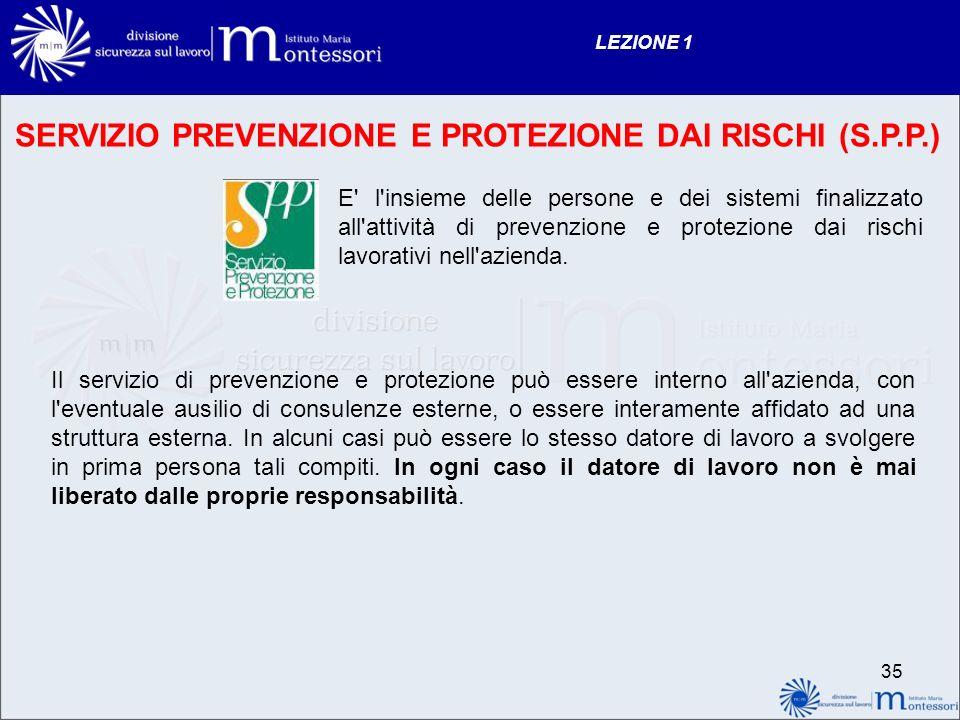 SERVIZIO PREVENZIONE E PROTEZIONE DAI RISCHI (S.P.P.)