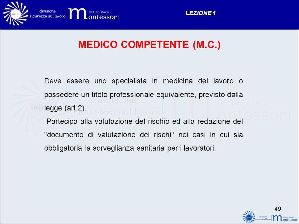 MEDICO COMPETENTE (M.C.)