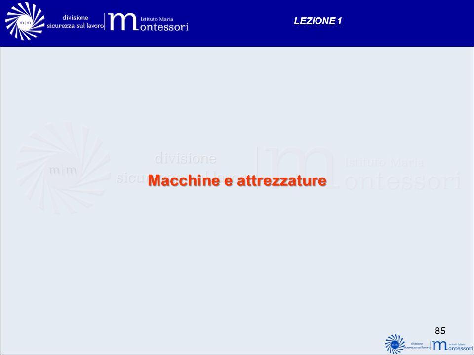 Macchine e attrezzature