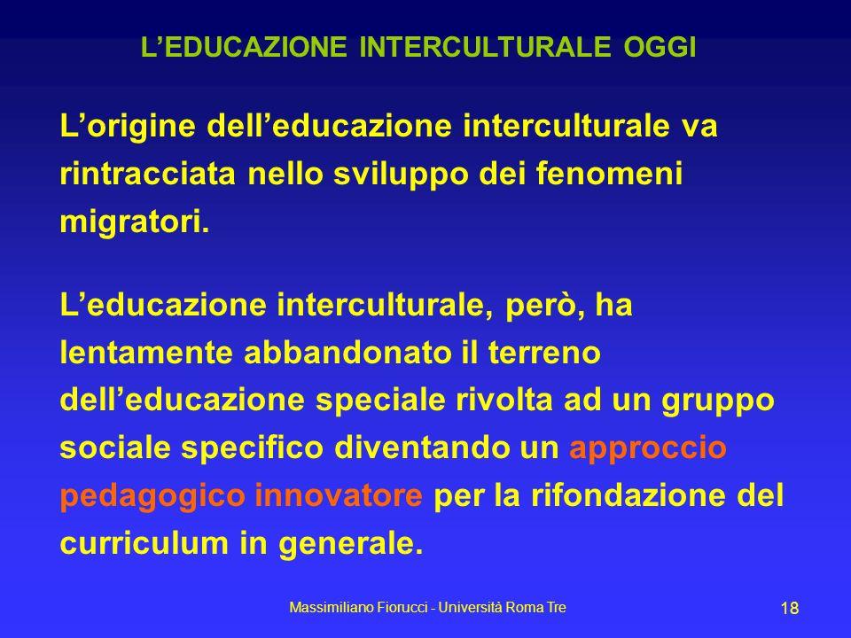 L'EDUCAZIONE INTERCULTURALE OGGI