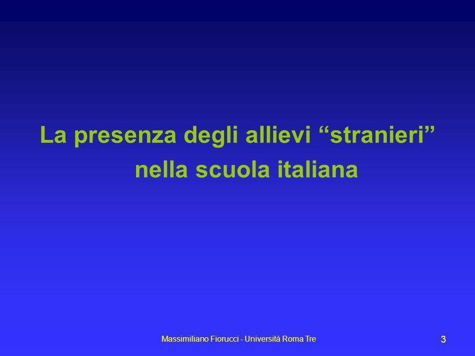 La presenza degli allievi stranieri nella scuola italiana