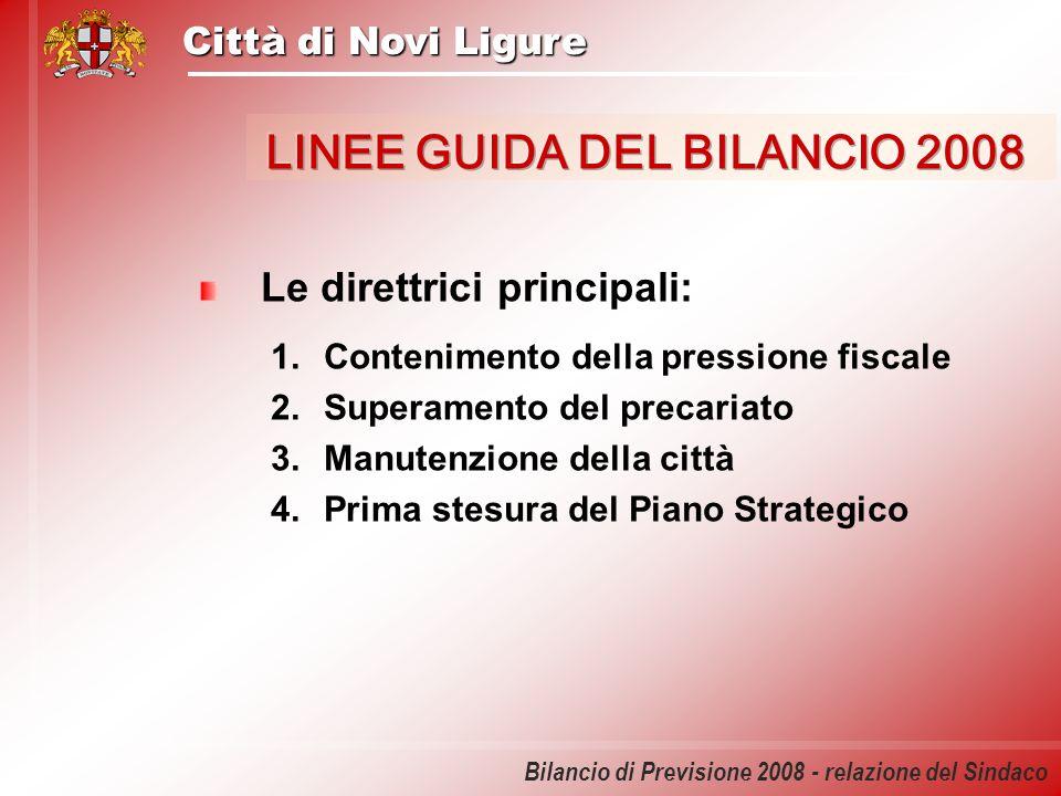 LINEE GUIDA DEL BILANCIO 2008