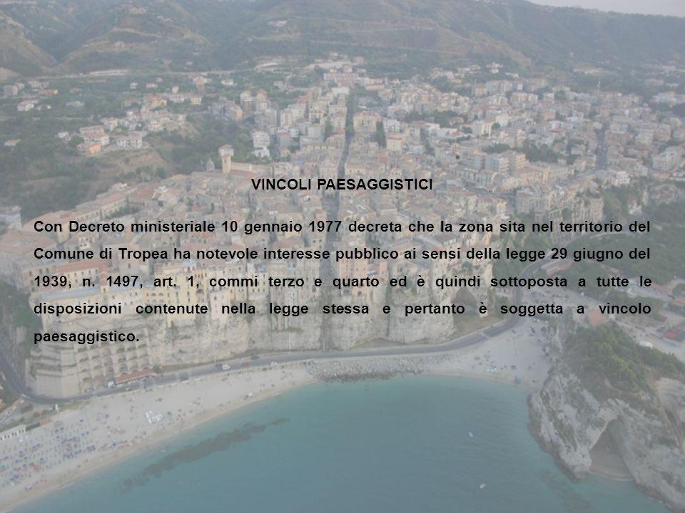 VINCOLI PAESAGGISTICI