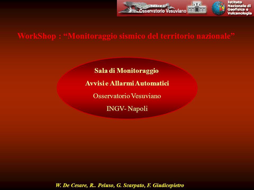 WorkShop : Monitoraggio sismico del territorio nazionale