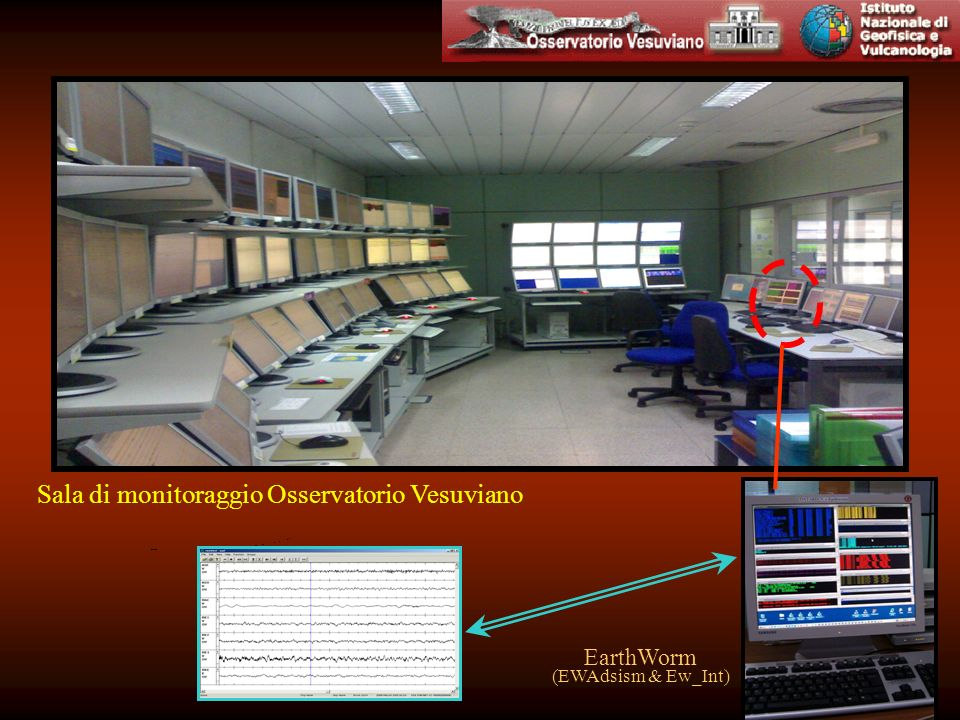 Sala di monitoraggio Osservatorio Vesuviano