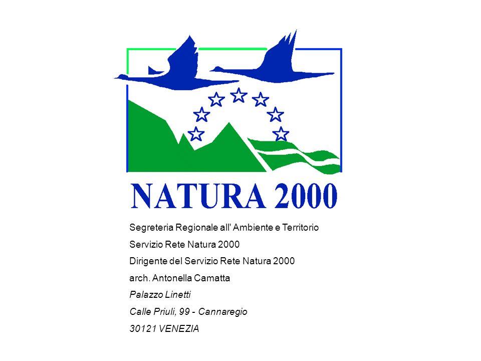 Segreteria Regionale all Ambiente e Territorio