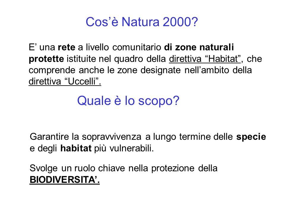 Cos'è Natura 2000 Quale è lo scopo