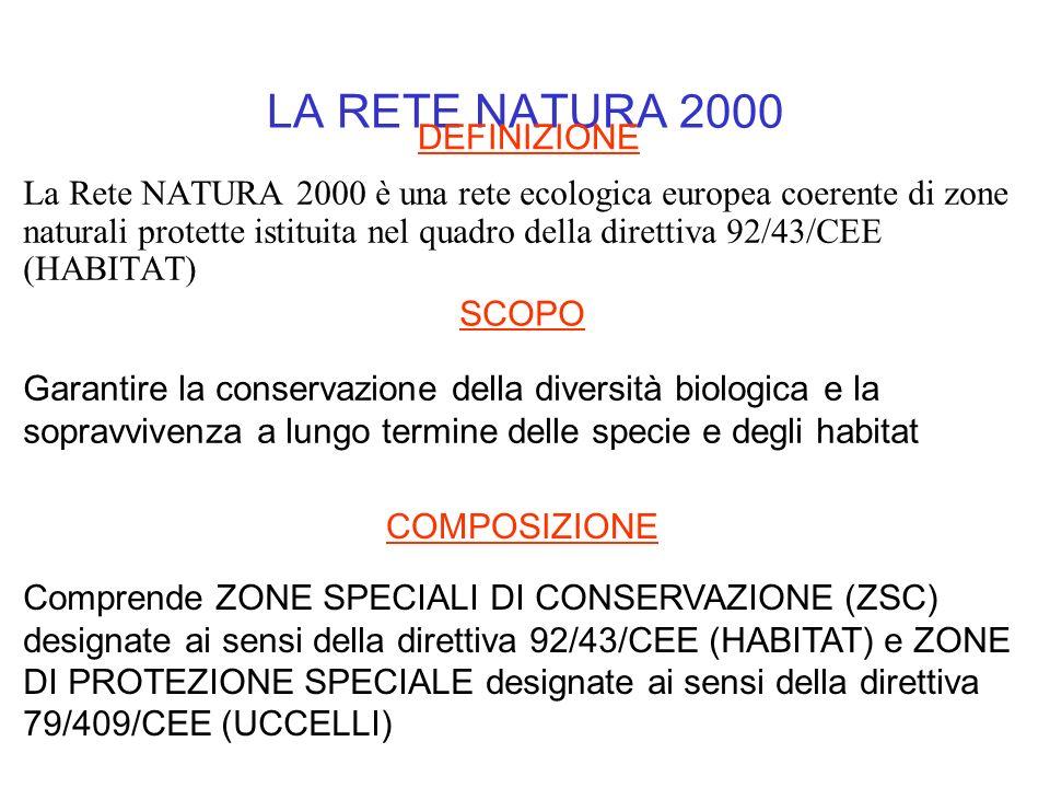 LA RETE NATURA 2000 DEFINIZIONE