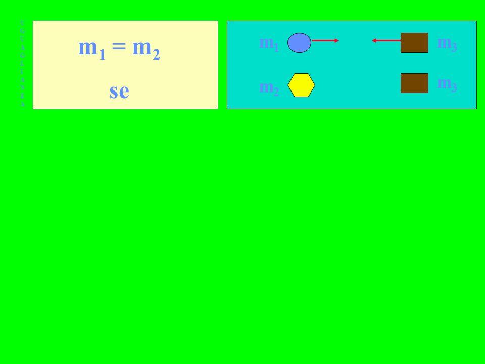 UGUAGLIANZA m1 = m2 se m1 m3 m3 m2