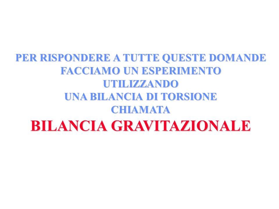 BILANCIA GRAVITAZIONALE