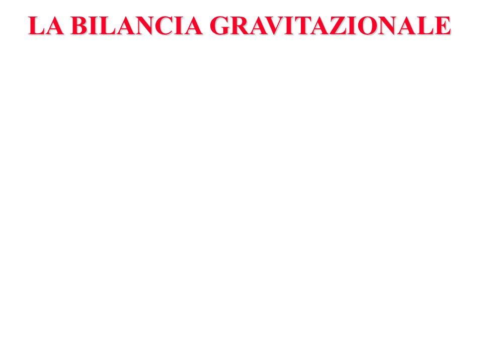 LA BILANCIA GRAVITAZIONALE