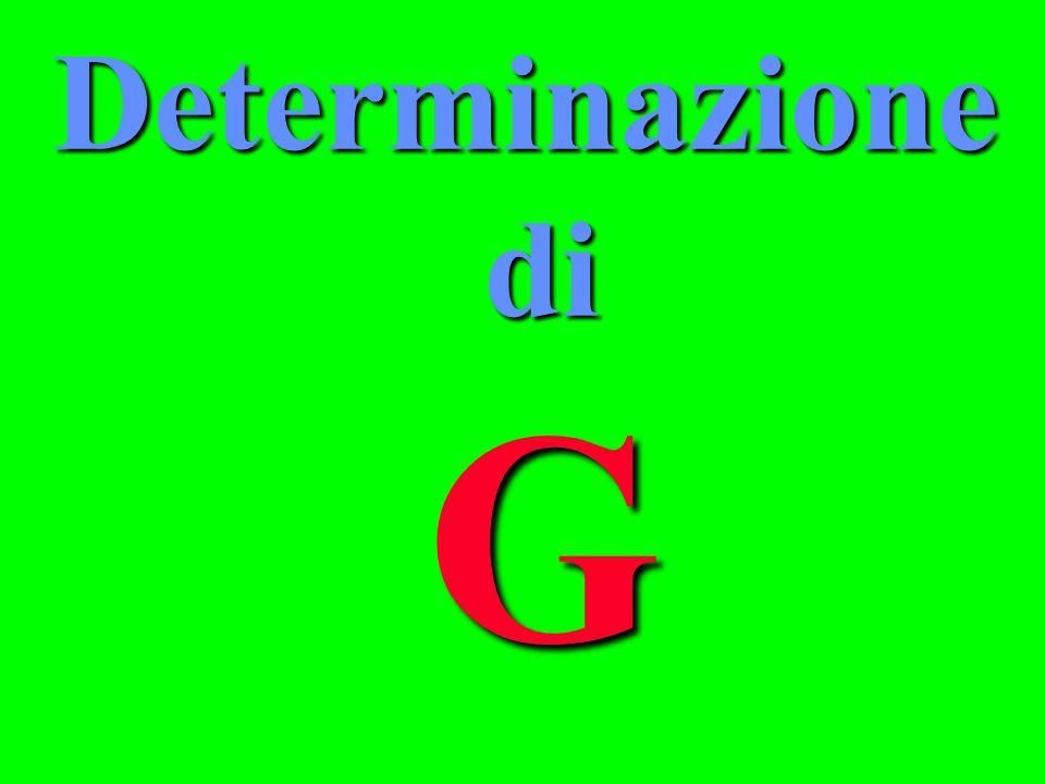 Determinazione di G