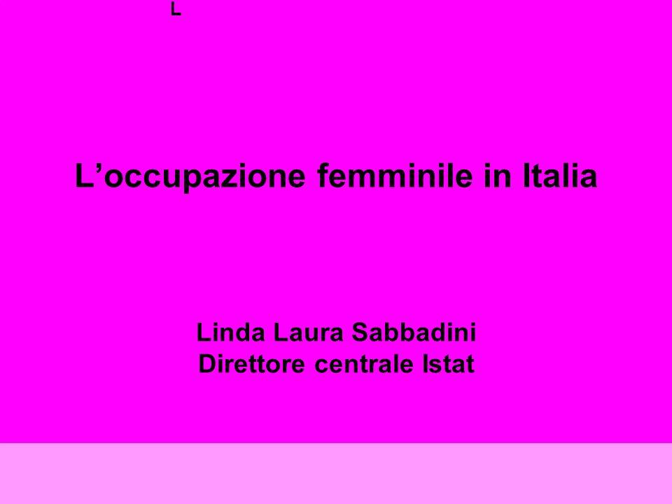 L L'occupazione femminile in Italia Linda Laura Sabbadini Direttore centrale Istat