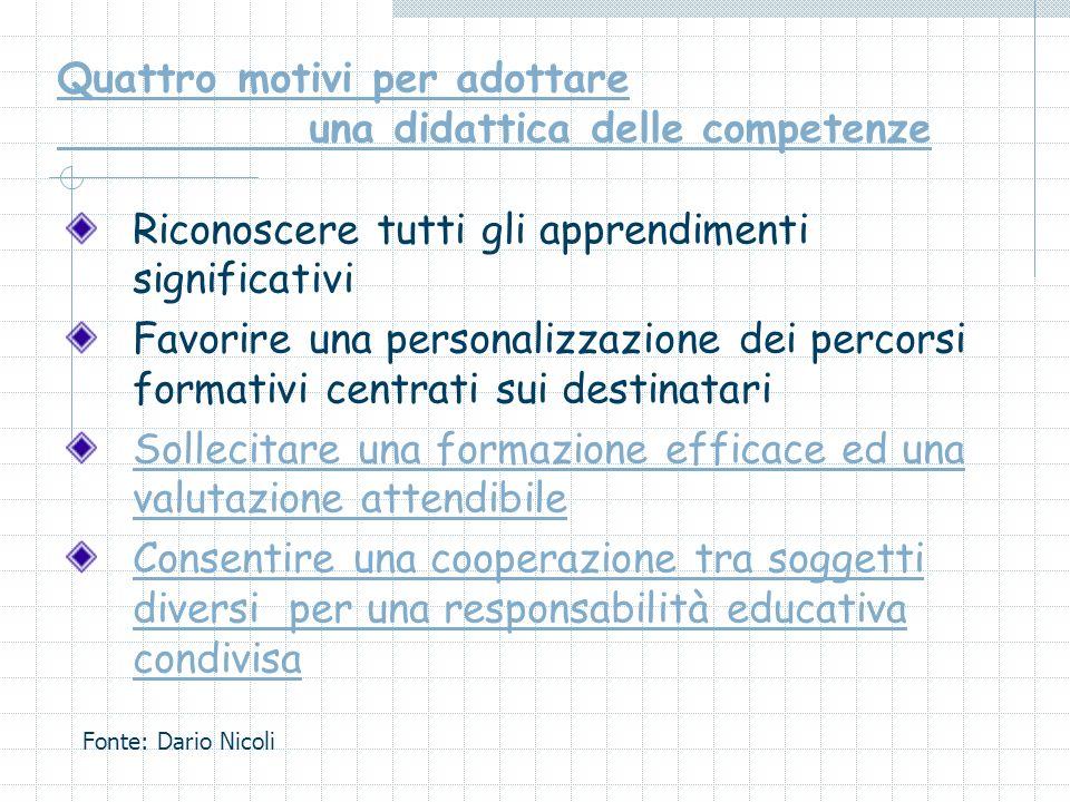 Quattro motivi per adottare una didattica delle competenze