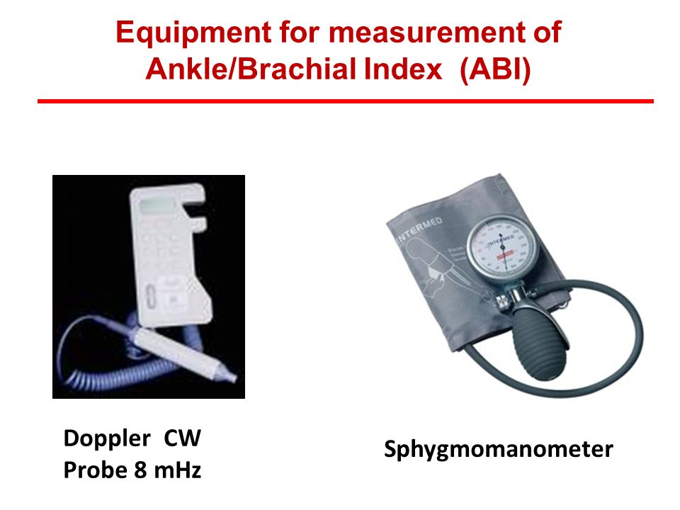 Equipment for measurement of Ankle/Brachial Index (ABI)