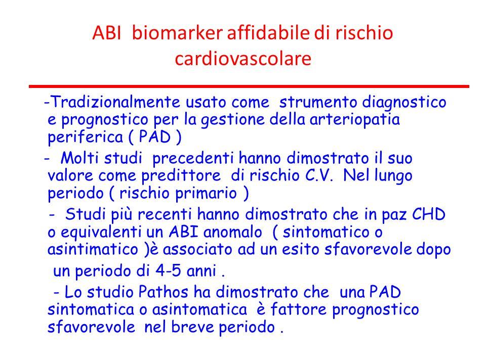 ABI biomarker affidabile di rischio cardiovascolare