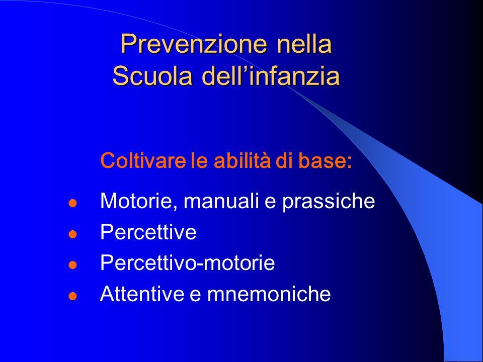 Prevenzione nella Scuola dell'infanzia