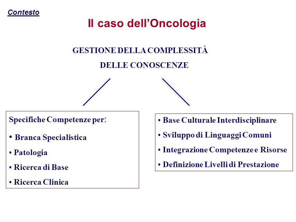Il caso dell'Oncologia