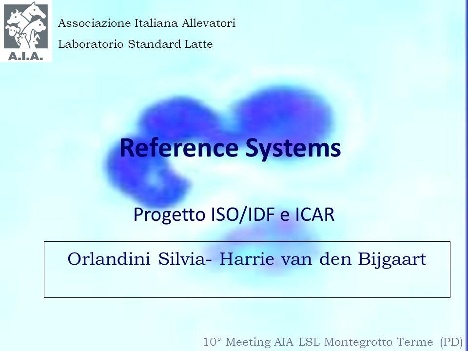 Progetto ISO/IDF e ICAR