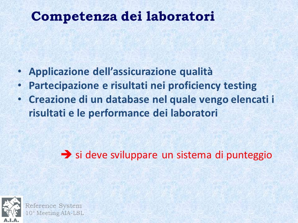 Competenza dei laboratori